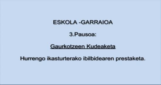 ESKOLA-GARRAIOA. Gaurkotzeen kudeaketa
