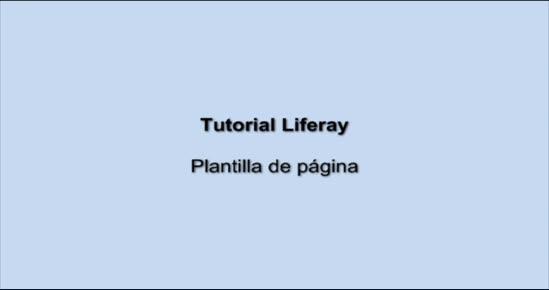 PORTAL INTRANET Plantilla de página