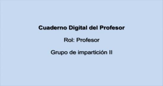 CUADERNO DIGITAL. Grupos de impartición II