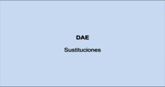 DAE.Sustituciones